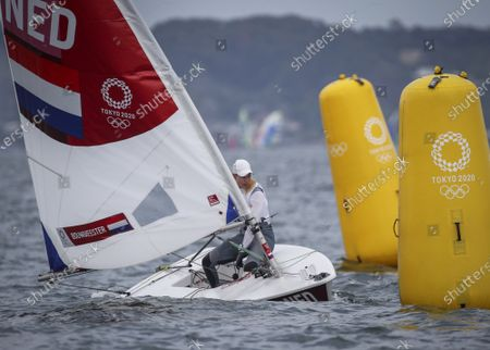Stock Picture of Marit Bouwmeester of the Netherlands competes in the Women's Laser Radial Class during the Sailing events of the Tokyo 2020 Olympic Games in Enoshima, Japan, 30 July 2021.