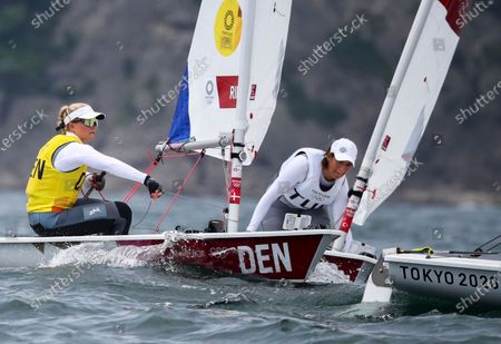 Anne-Marie Rindom of Denmark competes in the Women's Laser Radial Class during the Sailing events of the Tokyo 2020 Olympic Games in Enoshima, Japan, 30 July 2021.