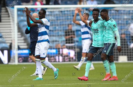 Albert Adomah of QPR  applauds the supporters after the match