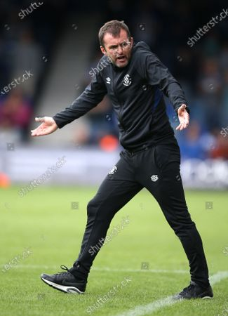 Stock Picture of Nathan Jones manager of Luton Town reacts