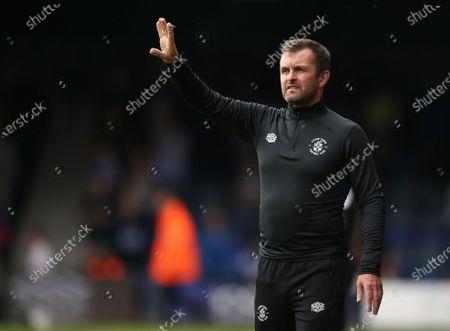 Stock Photo of Nathan Jones manager of Luton Town