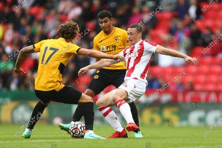 Stoke's James Chester and Wolves' Morgan Gibbs-White