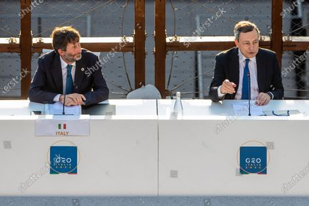 Editorial picture of G20 meeting of the Ministers of Culture in the Colosseum, Rome, Italy - 29 Jul 2021