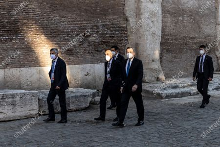 Italian Prime Minister Mario Draghi during the first day of the G20 meeting of the Ministers of Culture in the Colosseum