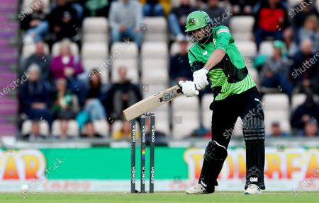 James Vince of Southern Brave in batting action.