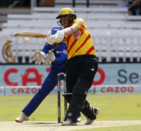 Stock Photo of Sammy-Jo Johnson of Trent Rockets Women during The Hundred between London Spirit Women and Trent Rockets Women at Lord's Stadium , London, UK on 29th July 2021