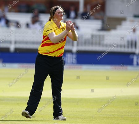 Stock Image of Sammy-Jo Johnson of Trent Rockets Women during The Hundred between London Spirit Women and Trent Rockets Women at Lord's Stadium , London, UK on 29th July 2021