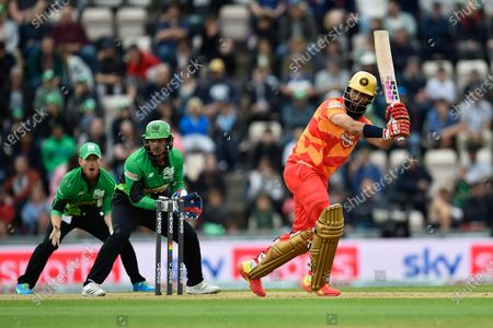 Moeen Ali of Birmingham Phoenix batting during the The Hundred match between Southern Brave and Birmingham Phoenix Men at the Ageas Bowl, Southampton