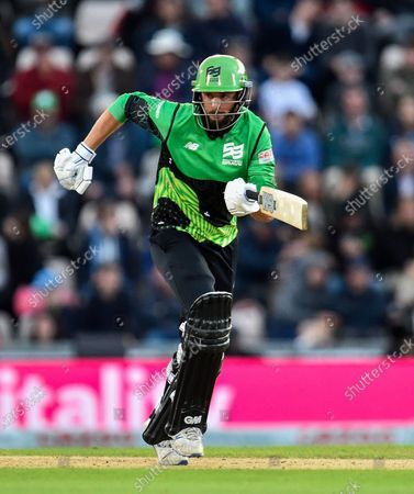 James Vince of Southern Brave batting during the The Hundred match between Southern Brave and Birmingham Phoenix Men at the Ageas Bowl, Southampton