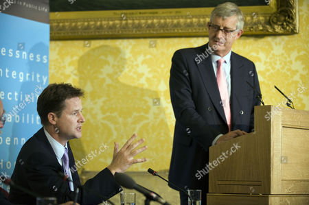 Editorial photo of Deputy Prime Minister Nick Clegg Speaks at the Committee on Standards in Public Life, London, Britain - 09 Sep 2010