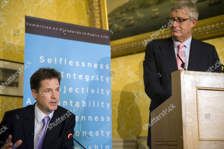 Editorial picture of Deputy Prime Minister Nick Clegg Speaks at the Committee on Standards in Public Life, London, Britain - 09 Sep 2010