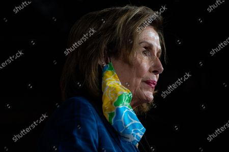 Speaker of the House Nancy Pelosi (D-CA) answers questions during a news conference on achievements including the For The People Act and the agenda for the remainder of the year at the U.S. Capitol Building on Friday, July 30, 2021 in Washington, DC. (Kent Nishimura / Los Angeles Times)