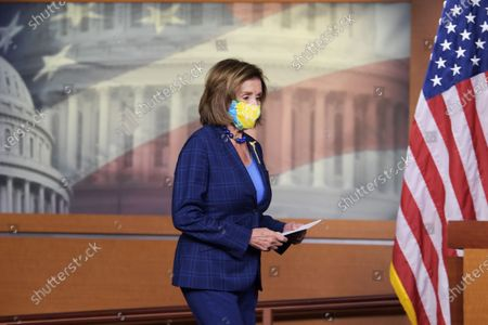 US House Speaker, Nancy Pelosi (D-CA) during a press conference about American Rescue Plan and House Democrat's Legislative Agenda at HVC/Capitol Hill.