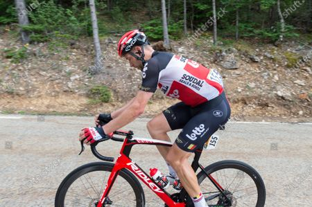 Roger Kluge (Team Lotto Soudal) in action during the 11th stage of 2021 Tour de France. The 11th stage of the Tour de France 2021 takes place between Sorgues and Malaucene and includes two ascents of Mont-Ventoux . The winner of the stage is Wout van Aert (Jumbo Visma team) and the final winner of the general classification of the 2021 Tour de France is the Slovenian rider of the UAE Team Emirates Tadej Pogacar.