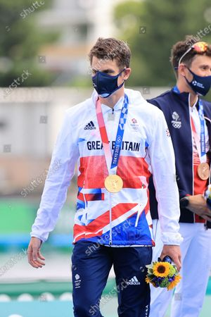 Jonathan Brownlee, Team GREAT BRITAIN (GBR) - Triathlon : Mixed Relay Medal Ceremony during the Tokyo 2020 Olympic Games at the Odaiba Marine Park in Tokyo, Japan.