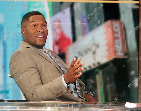 Stock Photo of Michael Strahan, on the set of Good Morning America