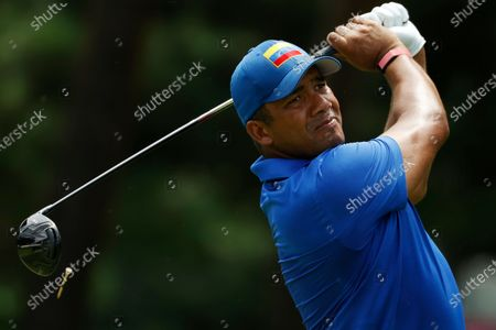 Jhonattan Vegas of Venezuela on the ninth hole during the third round of the Golf events of the Tokyo 2020 Olympic Games at the Kasumigaseki Country Club in Kawagoe, Japan, 31 July 2021.