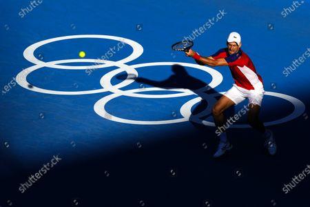 Novak Djokovic during the Men's Singles Bronze Medal Match
