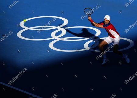 Stock Photo of Novak Djokovic during the Men's Singles Bronze Medal Match