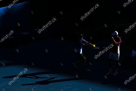 Stock Image of Novak Djokovic during the Men's Singles Bronze Medal Match