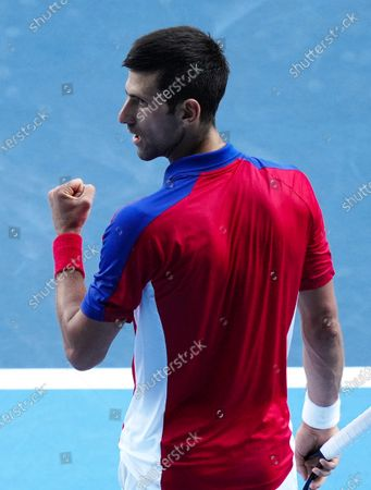 Stock Picture of Novak Djokovic during the Men's Singles Bronze Medal Match