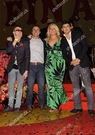 Stock Picture of Pete Bennett, Craig Phillips, Josie Gibson and Anthony Hutton