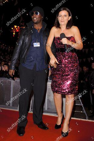 Stock Image of Victor Ebuwa and Davina McCall