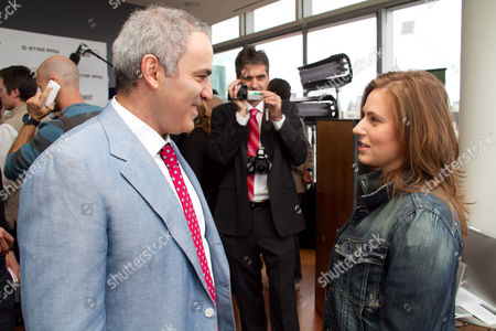 Chess grandmasters Garry Kasparov and Judit Polgar