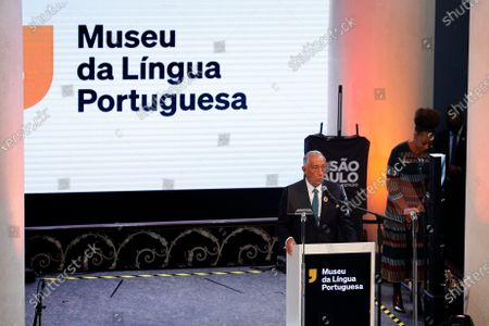 Portuguese President Marcelo Rebelo de Sousa, during the re-inauguration ceremony of the Portuguese Language Museum in Sao Paulo, Brazil, 31 July 2021. The Portuguese President is in a four-day visit to Brazil, where he will take part in the re-inauguration ceremony of the Portuguese Language Museum, and has scheduled meetings with former Presidents Lula da Silva, Fernando Henrique Cardoso and Michel Temer, and current Brazilian President Jair Bolsonaro, as well as representatives of Sao Paulo's Portuguese community.