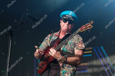 Mark King vocalist and guitarist with the 1980s British New Wave band Level 42 perform during the Camp Bestival in Lulworth.