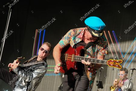 Mark King and Nathan King with the 1980s British New Wave band Level 42 perform during the Camp Bestival in Lulworth.