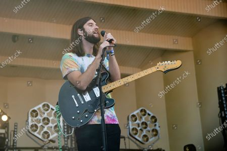 Matt Quinn of Mt. Joy performs on day three of the Lollapalooza Music Festival, at Grant Park in Chicago