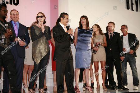 Lisa Love, Los Angeles Mayor Antonio Villaraigosa, Anjelica Huston and Randolph Duke