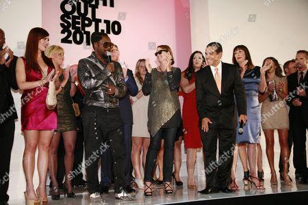 Sara Rue, Will.I.Am, Lisa Love, Los Angeles Mayor Antonio Villaraigosa, Anjelica Huston and Randolph Duke