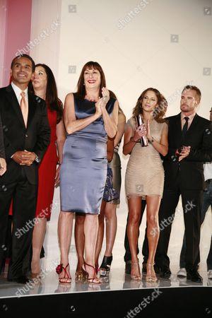 Stock Photo of Los Angeles Mayor Antonio Villaraigosa, Anjelica Huston, Edyta Sliwinska and Randolph Duke