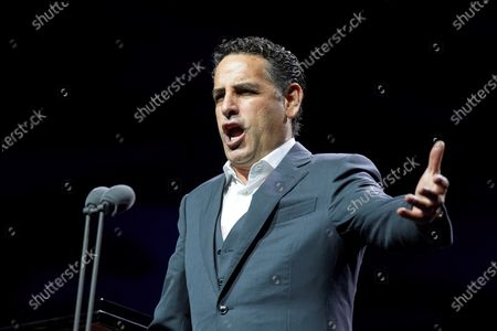 Peruvian tenor Juan Diego Florez perfoms on stage during Cap Roig Festival celebrated at Calella of Palafrugell, Girona, Spain, 31 July 2021.