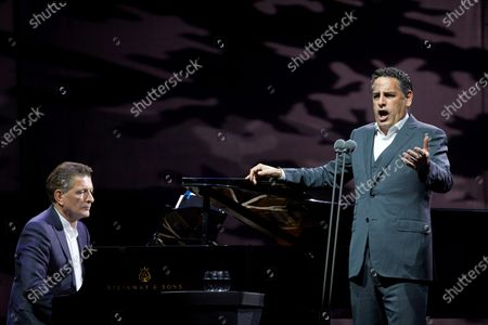 Stock Photo of Peruvian tenor Juan Diego Florez perfoms on stage during Cap Roig Festival celebrated at Calella of Palafrugell, Girona, Spain, 31 July 2021.