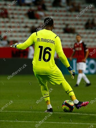 Mike Maignan during friendly match between Nice and Milan in Nice, on July 31, 2021.