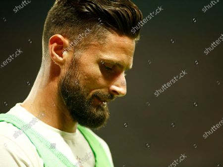 Olivier Giroud during friendly match between Nice and Milan in Nice, on July 31, 2021.