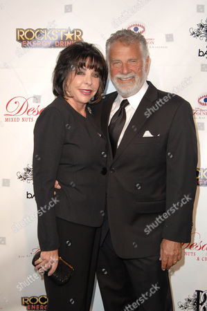 Stock Picture of Jonathan Goldsmith and wife Barbara Goldsmith