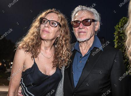 Harvey Keitel with his wife Daphna Kastner.