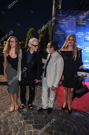 Harvey Keitel with his wife Daphna Kastner, Tiziana Rocca and Carlo Fuortes.