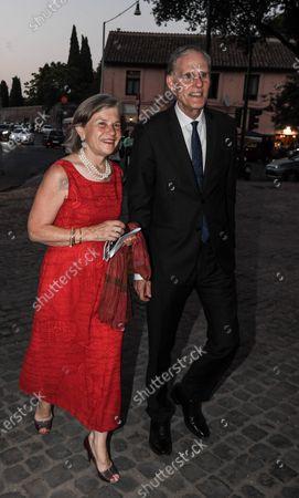 Editorial image of Harvey Keitel with his wife Daphna Kastner at Circus Maximus Teatro dell'Opera la Boheme, Rome, Italy - 30 Jul 2021