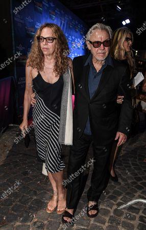 Stock Image of Harvey Keitel with his wife Daphna Kastner.