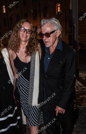 Stock Photo of Harvey Keitel with his wife Daphna Kastner.