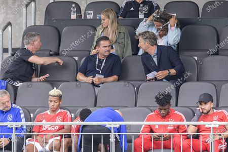 Stock Picture of (lr) Ajax technical director Marc Overmars, Ajax general director Edwin van der Sar during the friendly match between Ajax Amsterdam and RB Leipzig at the Untersberg-Arena on July 31, 2021 in Grodig, Austria.