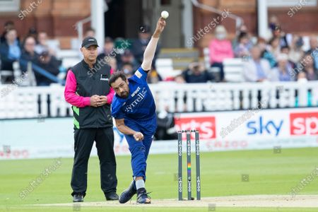 Mohammad Amir, London Spirit in action during London Spirit Men vs Southern Brave Men, The Hundred Cricket at Lord's Cricket Ground on 1st August 2021