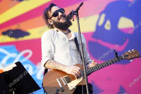 Ben Bridwell of Band of Horses performs on day four of the Lollapalooza music festival, at Grant Park in Chicago