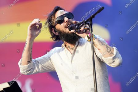 Ben Bridwell, of Band of Horses, performs on Day 4 of the Lollapalooza music festival, at Grant Park in Chicago