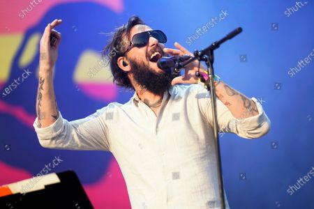 Stock Photo of Ben Bridwell, of Band of Horses, performs on Day 4 of the Lollapalooza music festival, at Grant Park in Chicago